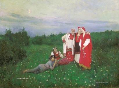 780 Konstantín Alekséyevich Korovin - 12 Idilio del Norte - 1886